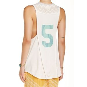 Free People Bleachers graphic tank in ivory